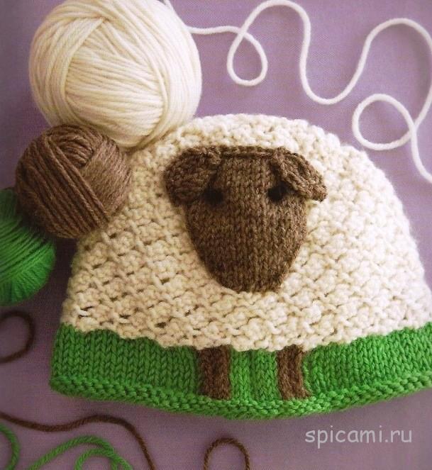 Вязаные шапочки для малышей на весну
