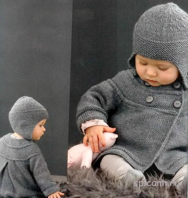 вязаные шапочки для малышей на осень своими руками