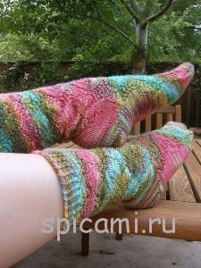 вязаные ажурнве носки