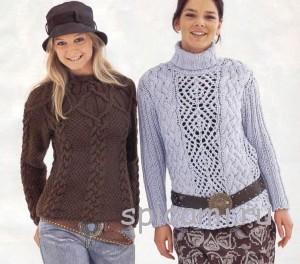 вязаные пуловеры на осень 2013