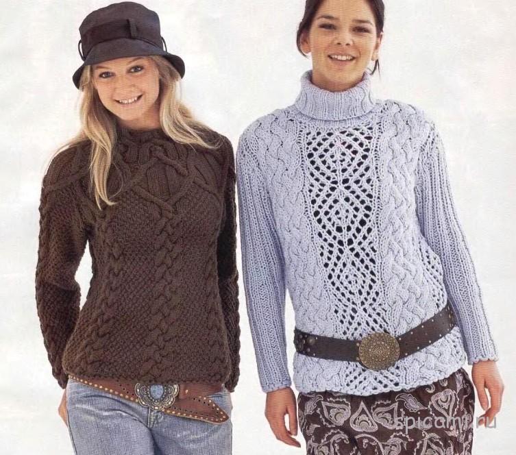 Два красивых пуловера на осень