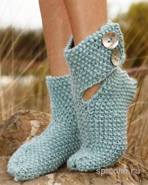 Вязаные носки «Эльф»