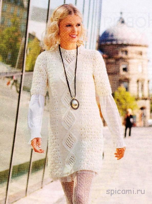 Вязаное платье или туника