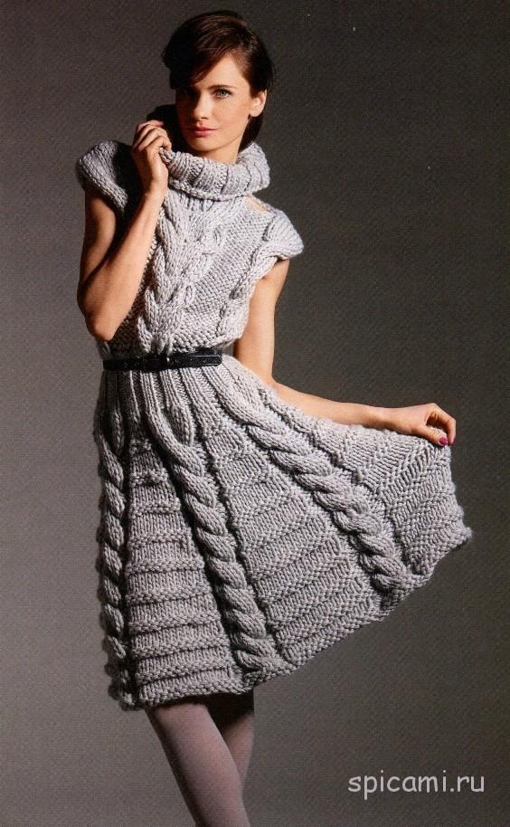 Потрясающее вязаное платье