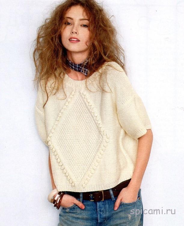 Пуловер с ромбом