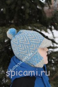 шапочка с козырьком вязание