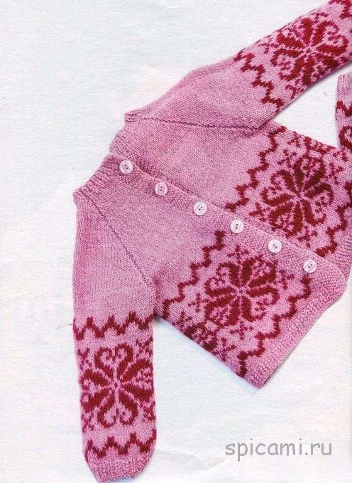 Кофточка и штанишки для девочки спицами