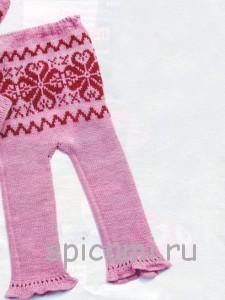 вязаные штанишки для девочки