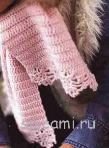 шарфик для девочки крючком