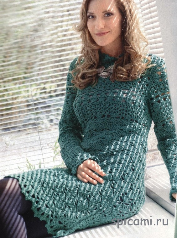 Сине-зелёное платье