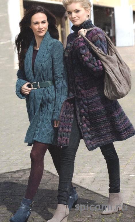 Вязаное пальто (2 модели)