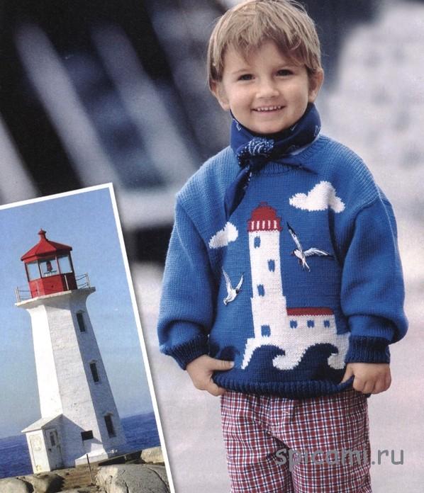 Пуловер с башней-маяком