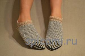 скандинавские носочки спицами