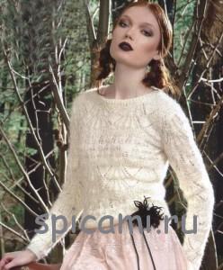 вязаный пулоер из мохера