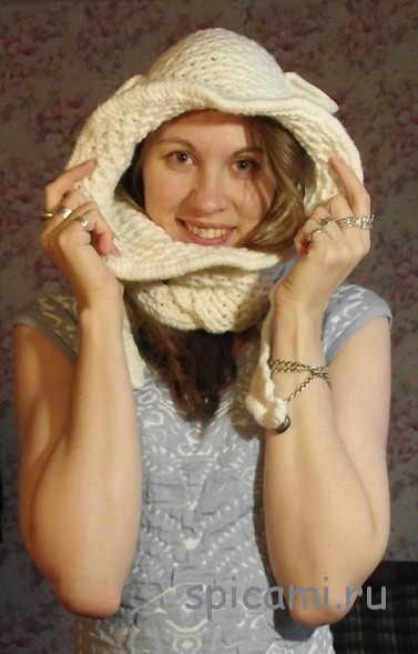 Шапка-шарф-капюшон «Овечка»