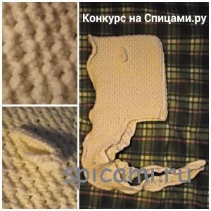 вязаная шапка-шарф овечка