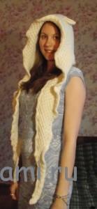 шапка-шарф овечка