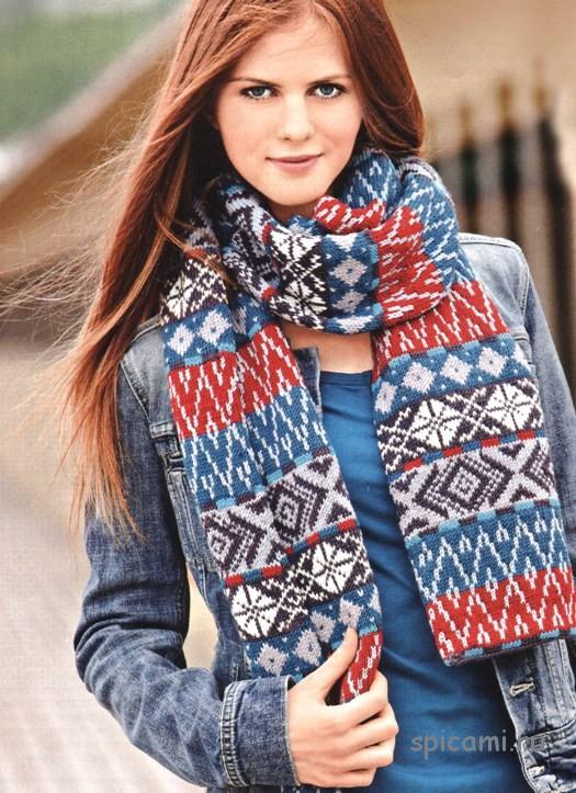 Жаккардовый шарф