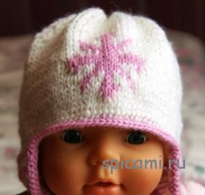 вязаная шапочка спицами для малыша