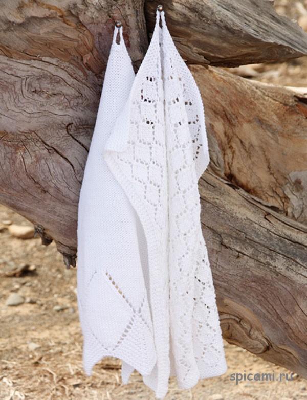 Вязаные полотенца от Drops Design