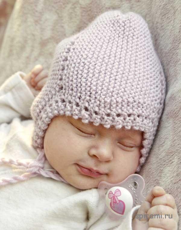 Вязаная шапочка  для малыша «Lullaby» от Drops Design