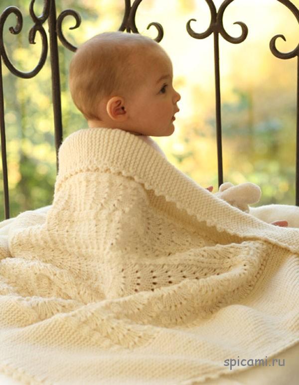 вязаное одеяло для малыша своими руками