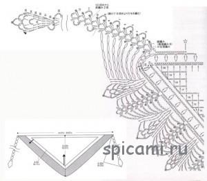 схема вязания бактуса