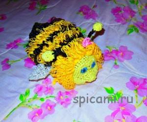 мочалка пчелка