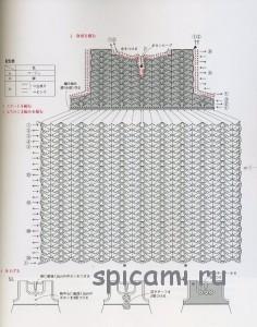 схема для вязания платья