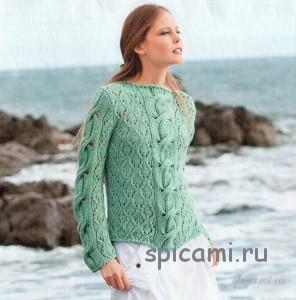 вязаный пуловер из хлопка