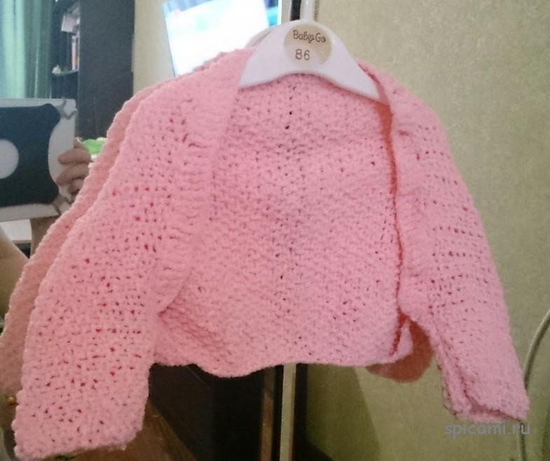 Вязаное болеро для девочки на 1 год