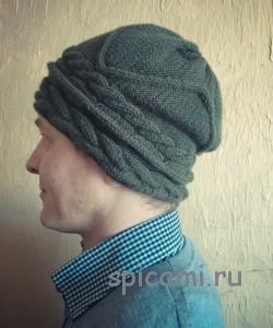 вязаная шапка для мужчины