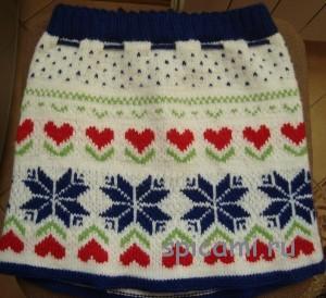 юбка для девочки спицами