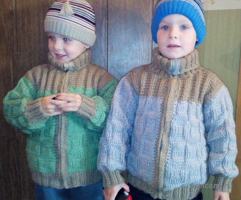 Вязаные курточки на весну