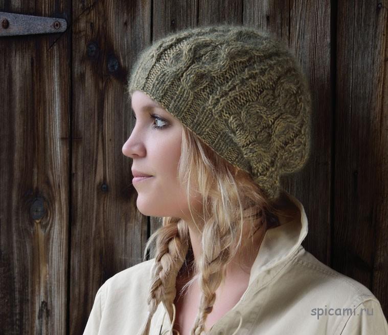 Вязаная шапка с косами от Ким Харгрейвз