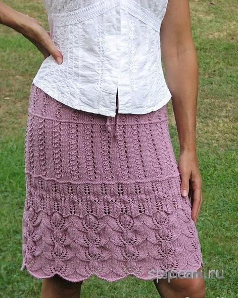 вязаные юбки спицами 12 моделей с описанием своими руками