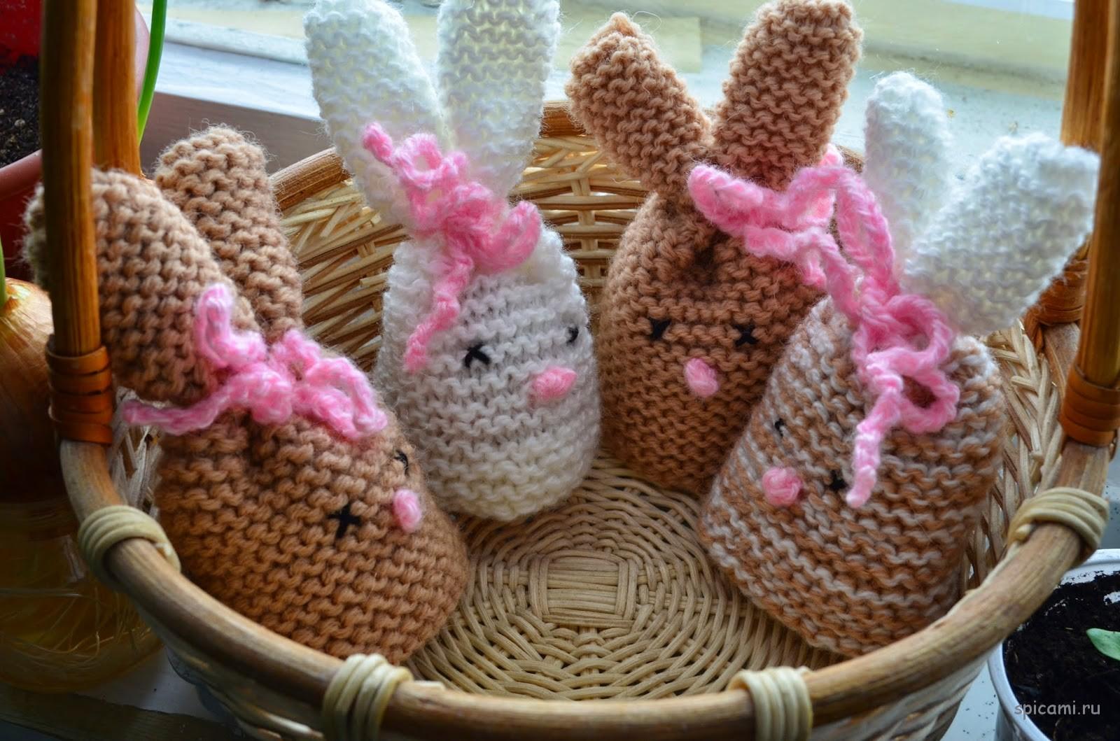 Пасхальные зайки — грелки для яиц (мастер-класс)