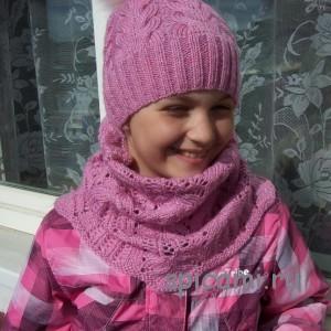 шапка и снуд для девочки