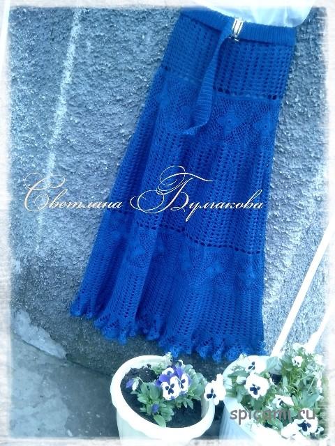 Вязаная юбка крючком