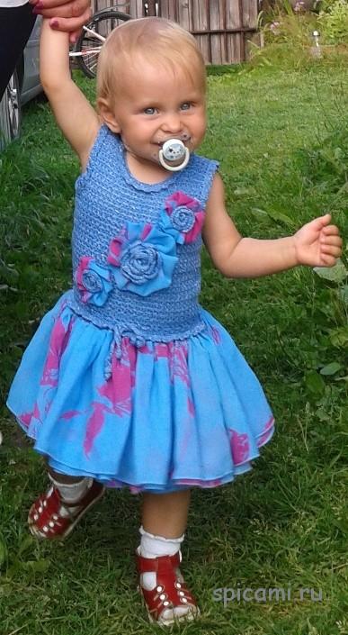 Комбинированное платье для принцессы