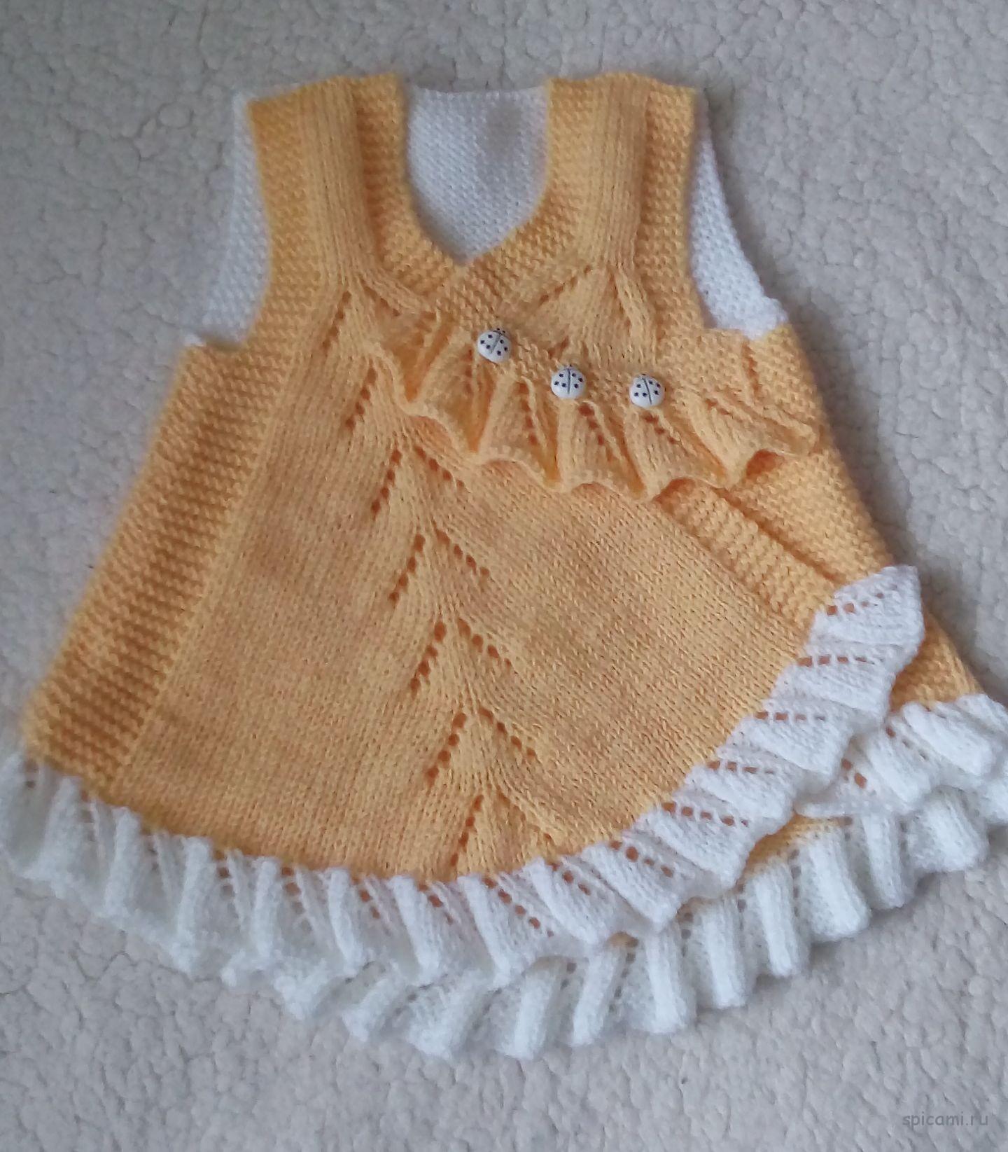Платье спицами для Грейси