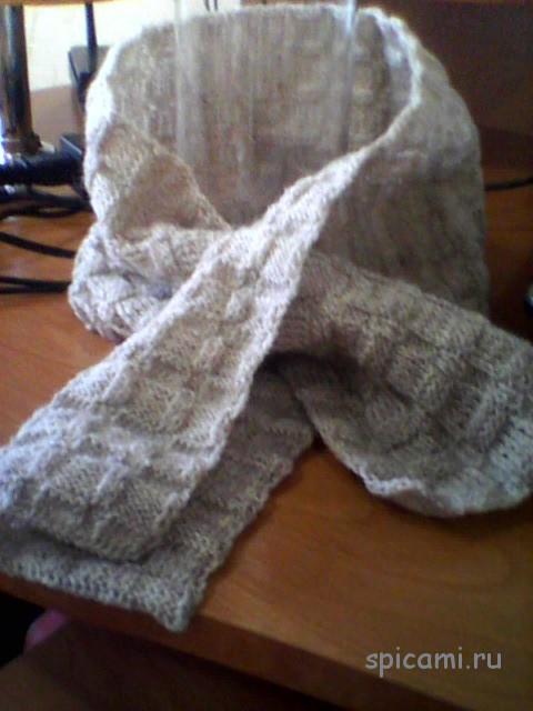 Вязаный шарф для парня