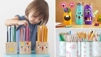 7 интересных идей для карандашницы своими руками