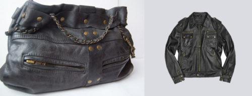 сумка из кожаной куртки