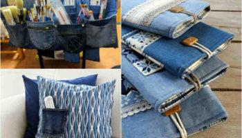 10 идей! Что сделать из старых джинс?