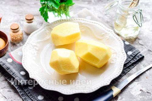картофель почистить, помыть