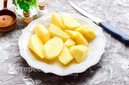 нарезать картошку крупно