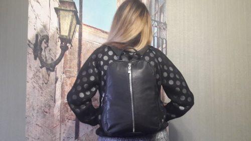 рюкзак из кожаной куртки