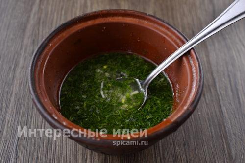 соус из чеснока и зелени