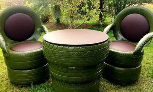 садовая мебель из шин